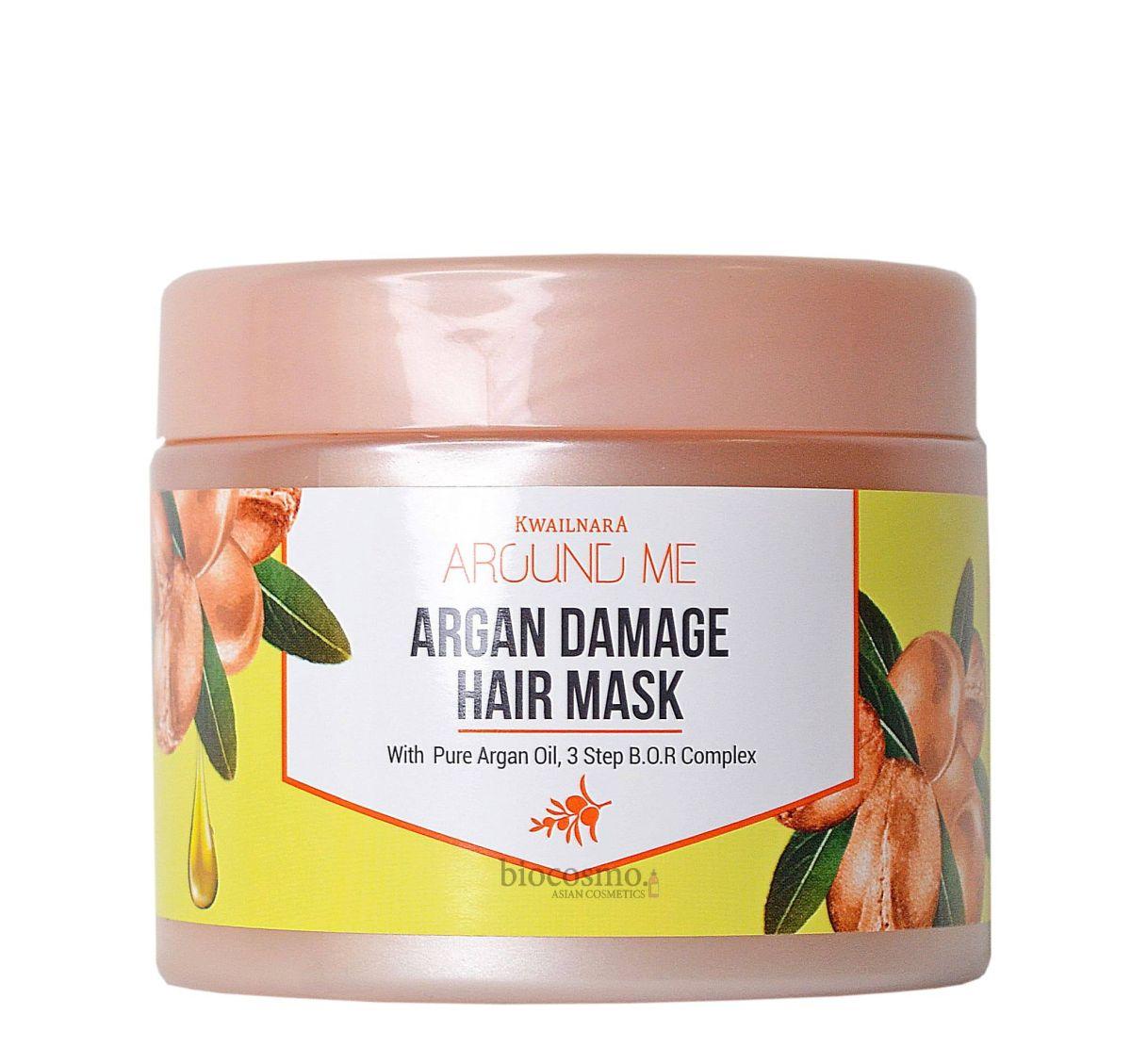 Маска для волос с аргановым маслом WELCOS Kwailnara Around Me Argan Damage Hair Mask - 300 мл