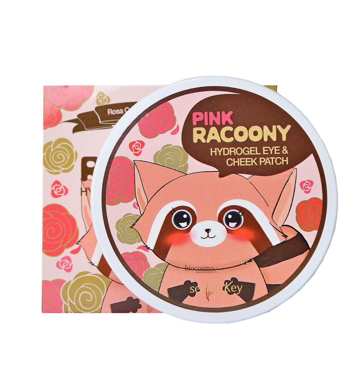 Гидрогелевые патчи для глаз и щек Secret Key Pink Racoony Hydro-Gel Eye & Cheek Patch - 90 шт