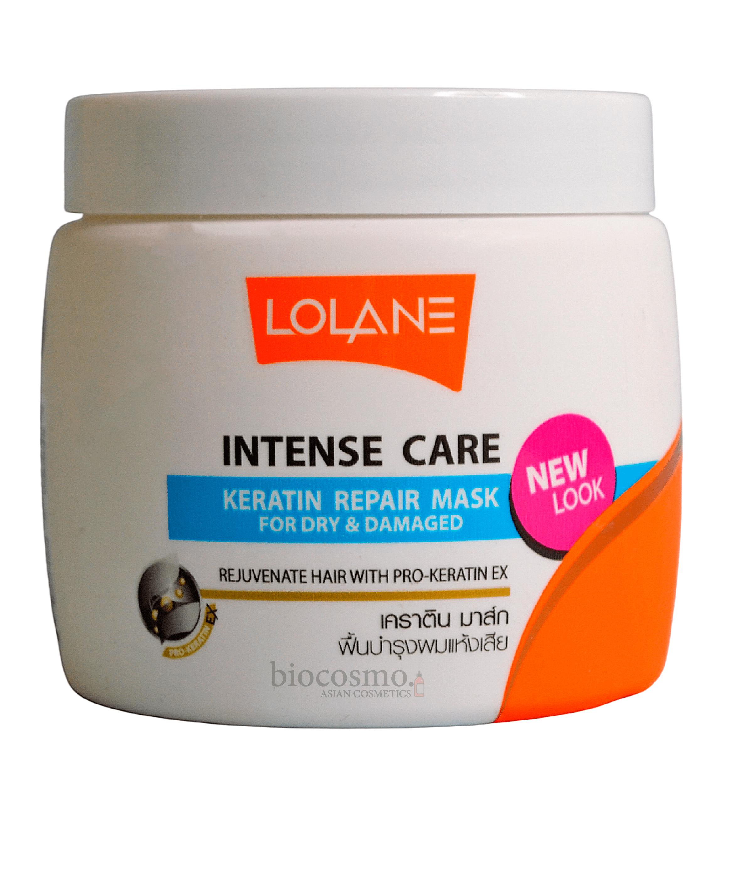 Кератиновая маска для поврежденных волос LOLANE Intense Care Keratin Repair Mask - 200 мл