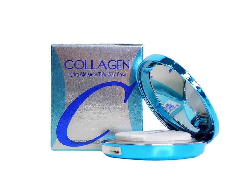 Увлажняющая пудра со сменным блоком Enough Collagen Hydro Moisture Two Way Cake SPF25 PA++ - 12 гр*2