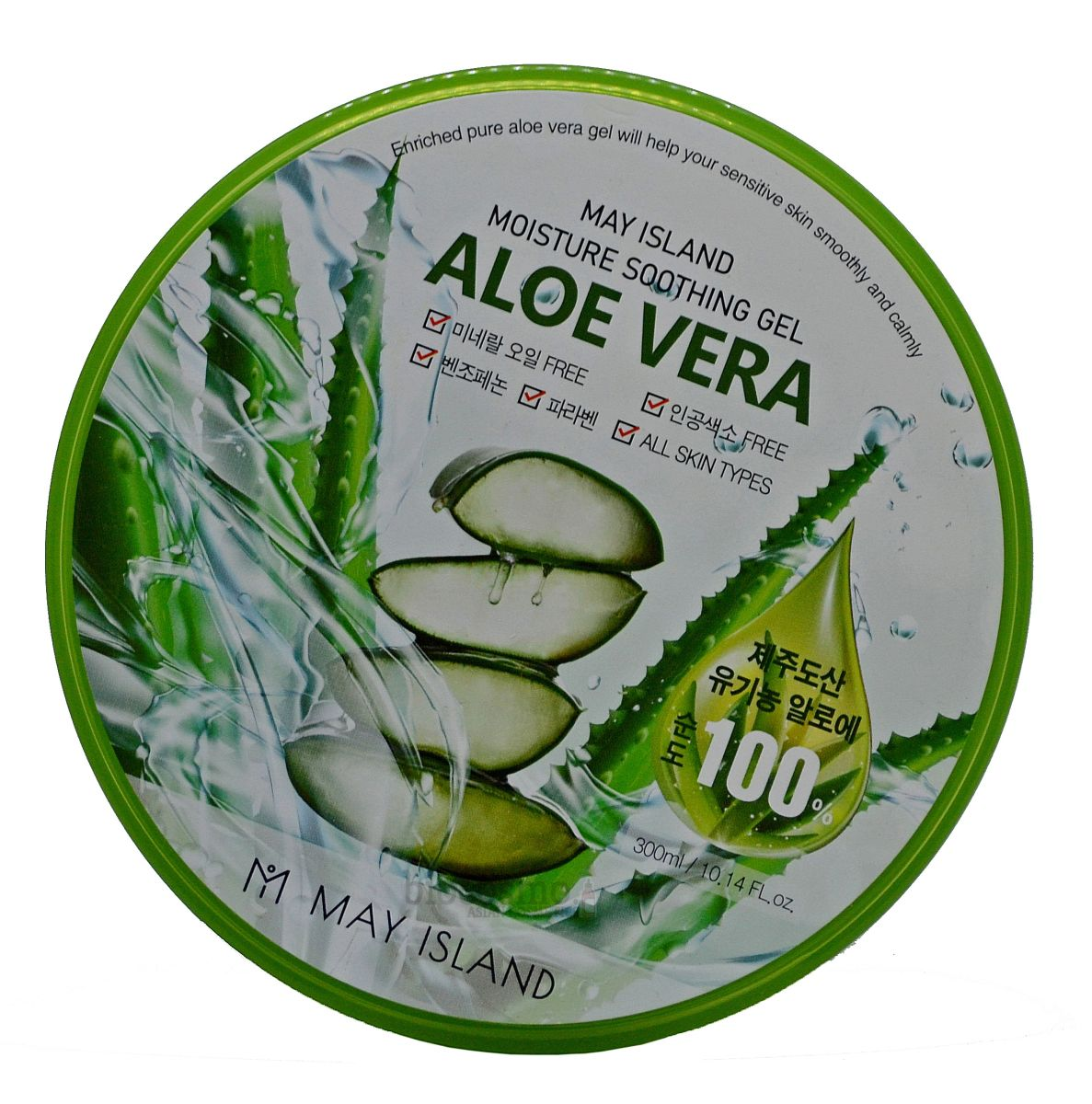 Гель для тела с алоэ MAY ISLAND Moisture Soothing Gel Aloe Vera 100% - 300 мл