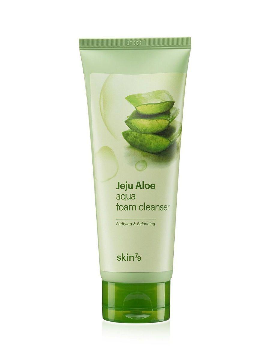 Пенка для умывания с алоэ вера SKIN79 Jeju Aloe Foam Cleanser Fresh & Purifying - 150 мл