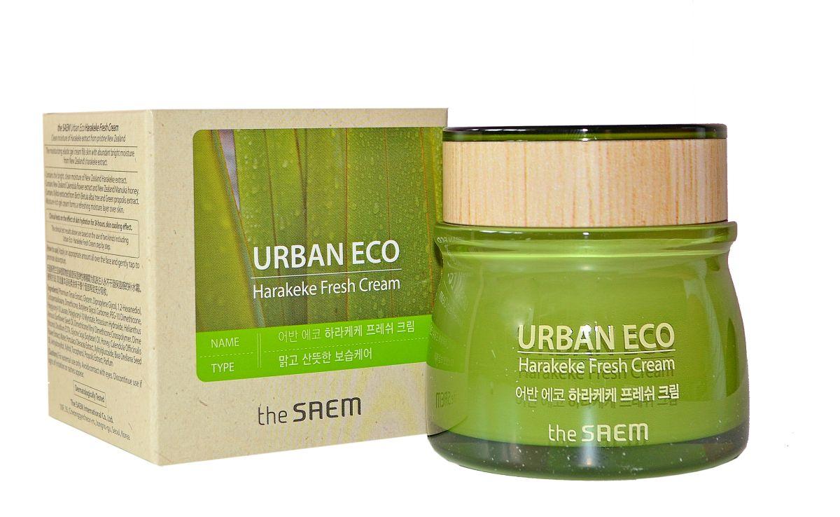 Крем для лица с новозеландским льном THE SAEM Urban Eco Harakeke Fresh Cream - 60 мл
