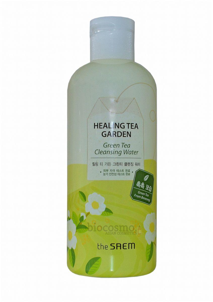 Очищающая вода для снятия макияжа THE SAEM Healing Tea Garden Green Tea Cleansing Water - 300 мл