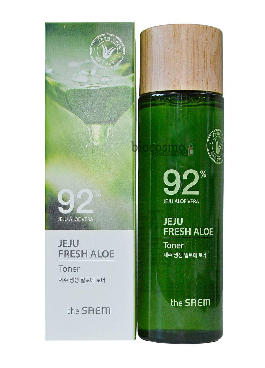 Увлажняющий тонер c алоэ THE SAEM Jeju Fresh Aloe Toner - 155 мл