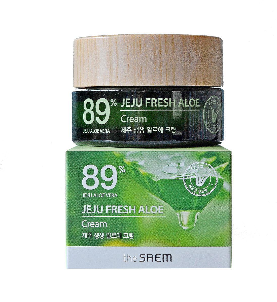 Увлажняющий крем для лица с алоэ The Saem Jeju Fresh Aloe Cream - 50 мл