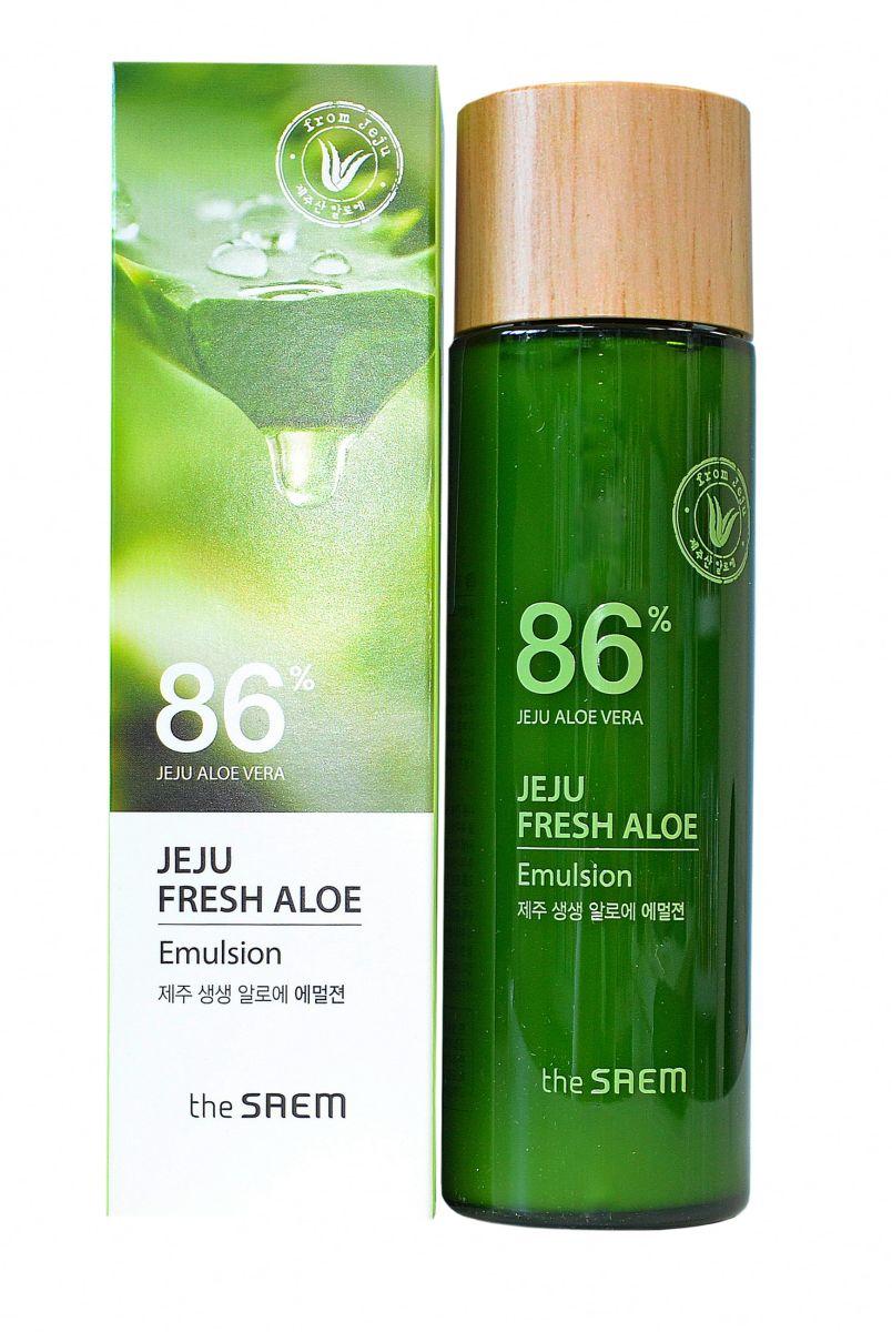Увлажняющая эмульсия для лица с алоэ THE SAEM Jeju Fresh Aloe Emulsion - 155 мл