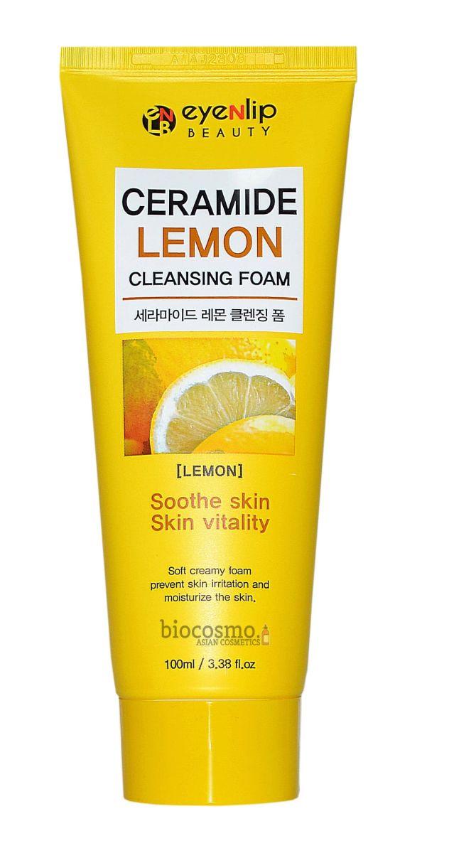 Очищающая пенка с керамидами и лимоном EYENLIP Ceramide Lemon Cleansing Foam - 100 мл