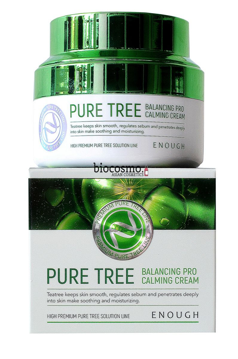 Крем для лица с чайным деревом Enough Pure Tree Balancing Pro Calming Cream - 50 мл