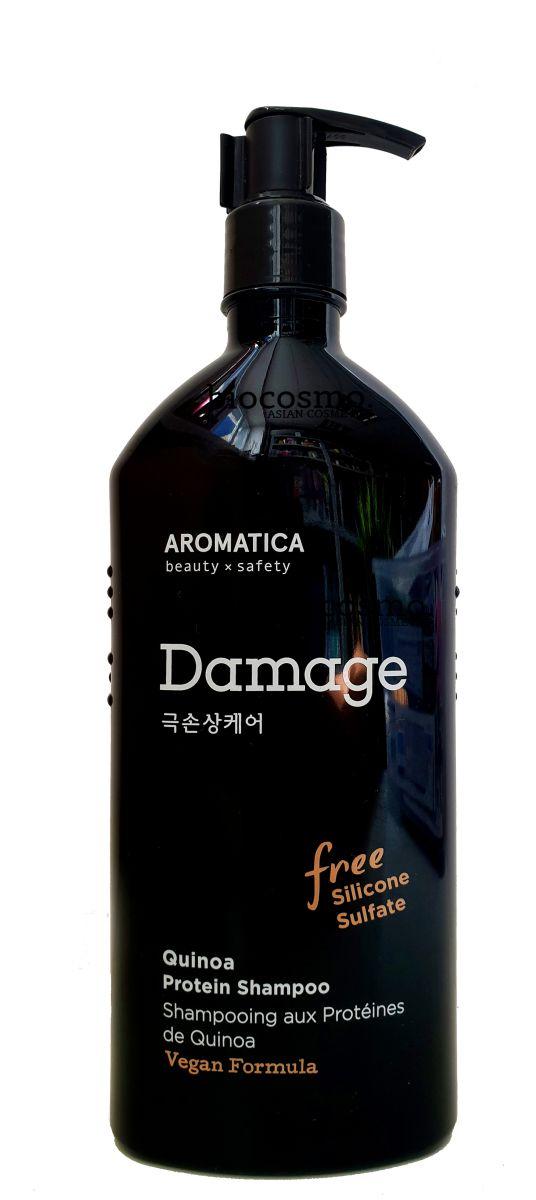 Бессульфатный шампунь для повреждённых волос AROMATICA Quinoa Protein Hair Shampoo - 400 мл