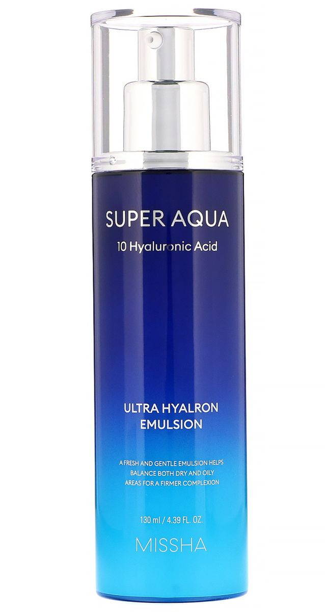 Интенсивно увлажняющая эмульсия MISSHA Super Aqua Ultra Hyalron Emulsion - 130 мл
