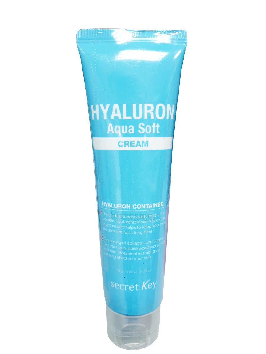 Увлажняющий крем для лица SECRET KEY Hyaluron Aqua Soft Cream - 70 мл