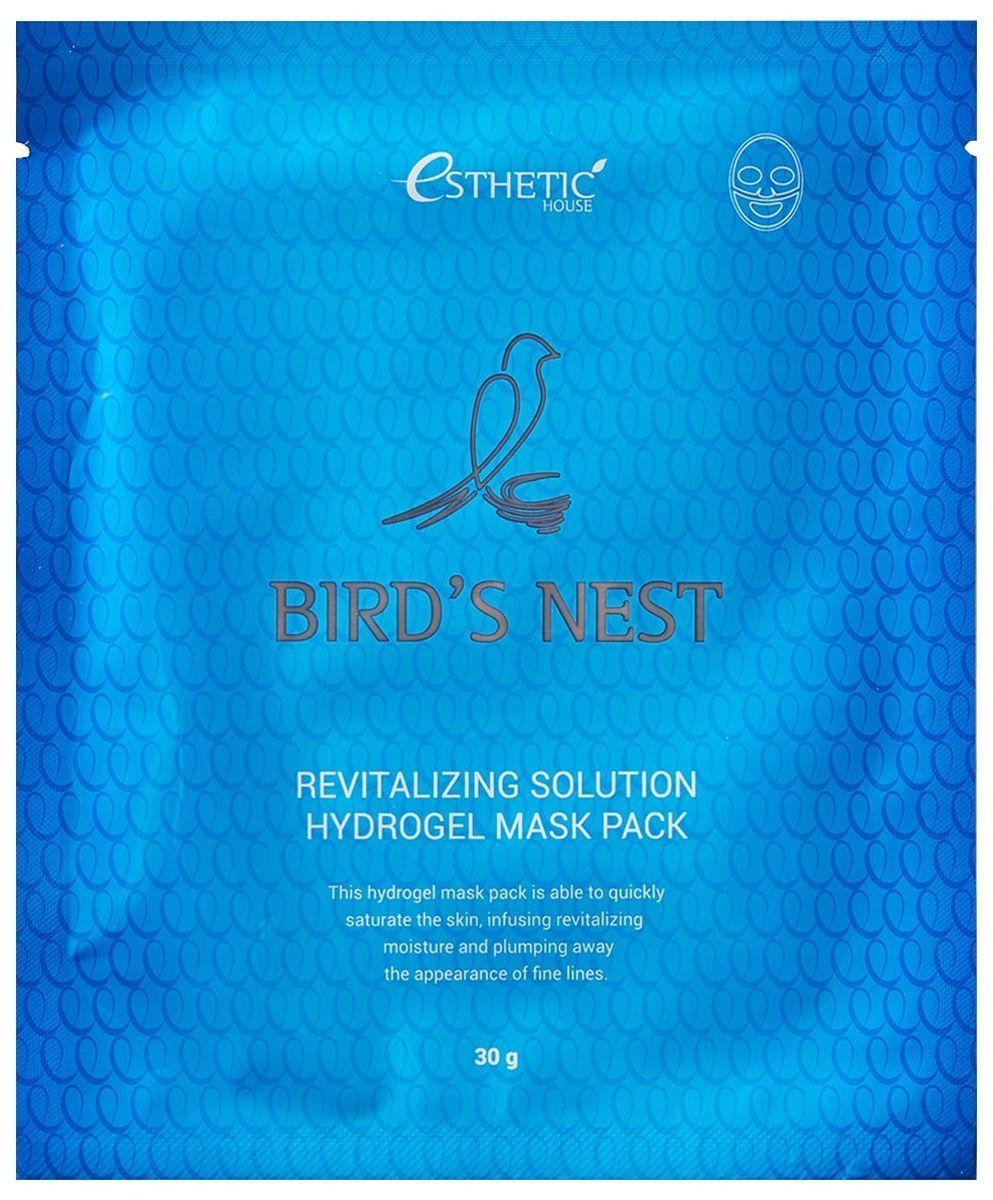 Гидрогелевая маска с ласточкиным гнездом Esthetic House Bird's Nest Revitalizing Hydrogel Mask Pack - 28 мл