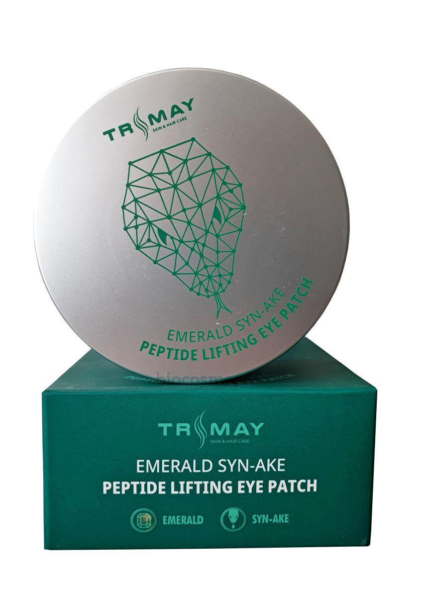 Гидрогелевые лифтинг-патчи для глаз со змеиным пептидом TRIMAY Emerald Syn-Ake Peptide Lifting Eye Patch - 90 шт