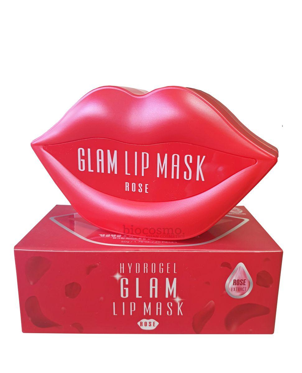 Гидрогелевые патчи для губ с розой Beauugreen Hydrogel Glam Lip Mask Rose - 20 шт