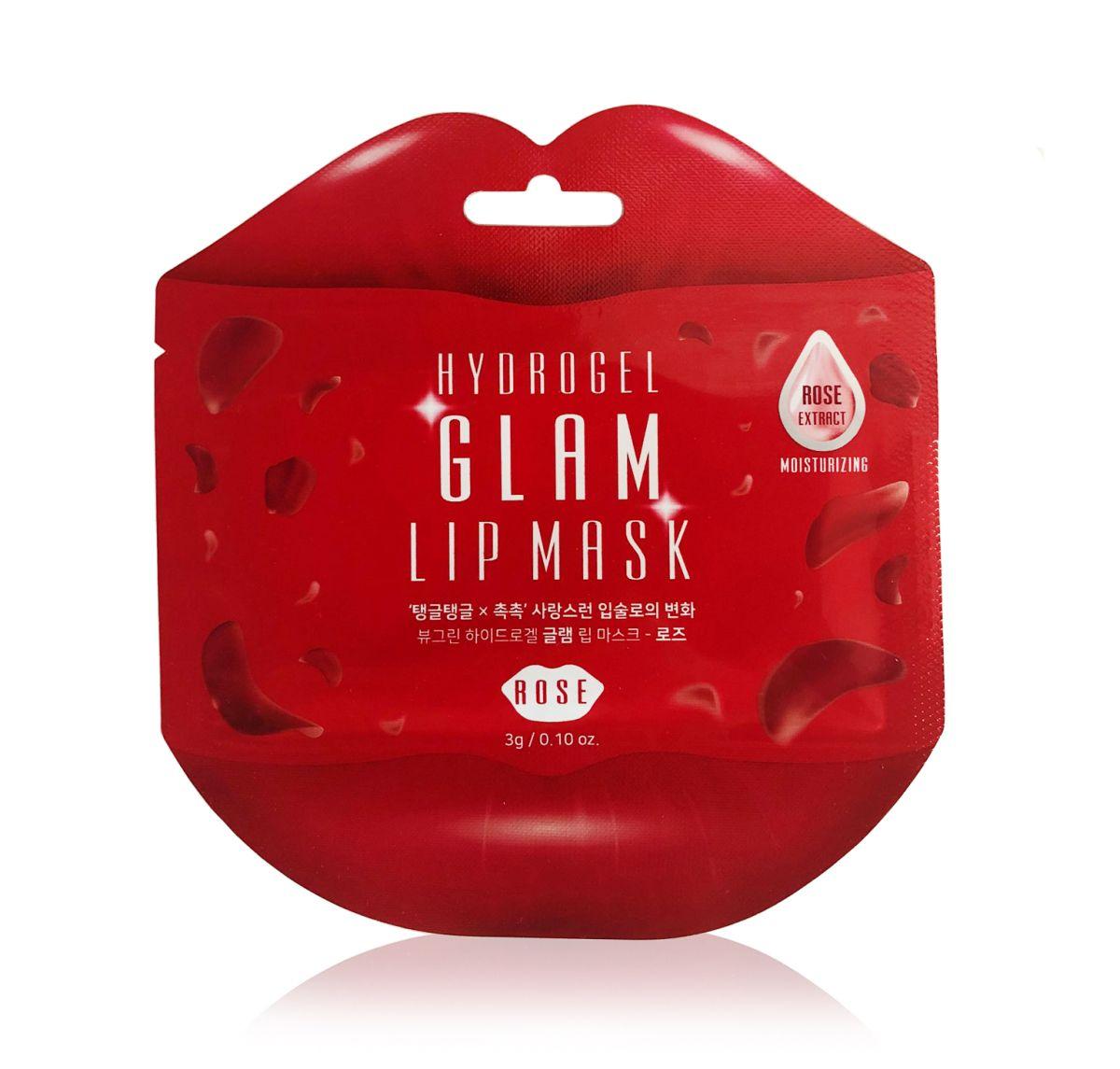 Гидрогелевые патчи для губ с розой Beauugreen Hydrogel Glam Lip Mask Rose - 3 гр