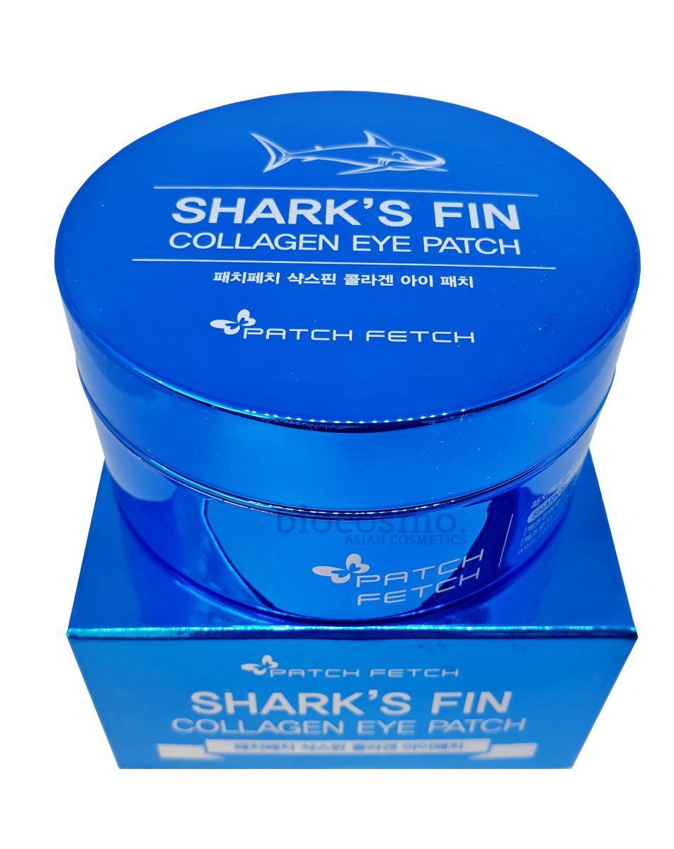 Гидрогелевые патчи для глаз с коллагеном Patch Fetch Shark's Fin Collagen Eye Patch - 60 шт