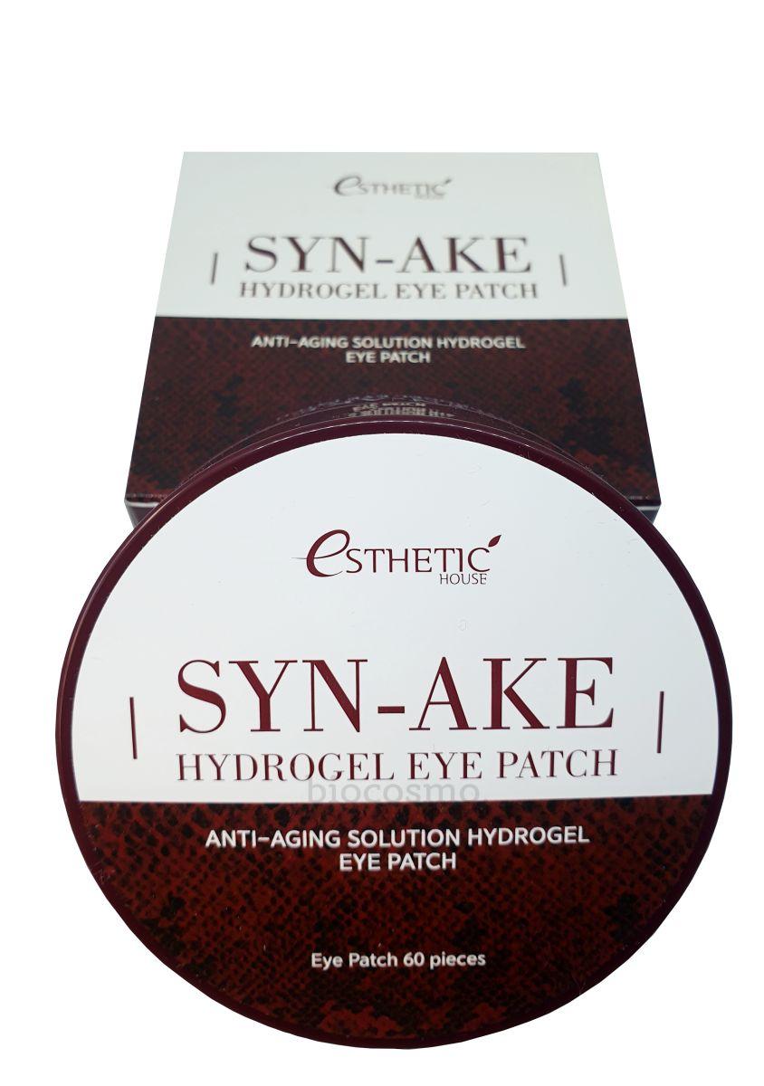 Гидрогелевые патчи для глаз со змеиным пептидом Esthetic House Syn-Ake Hydrogel Eye Patch - 60 шт
