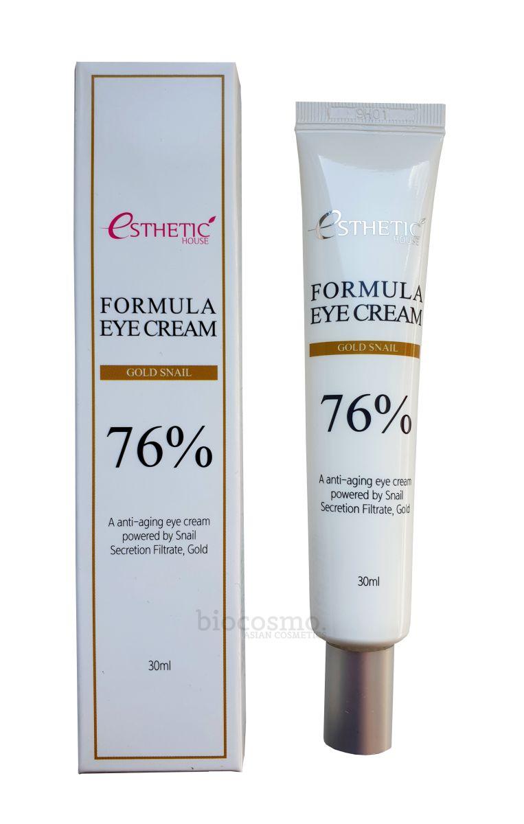 Крем для век c муцином улитки Esthetic House Formula Eye Cream Gold Snail - 30 мл
