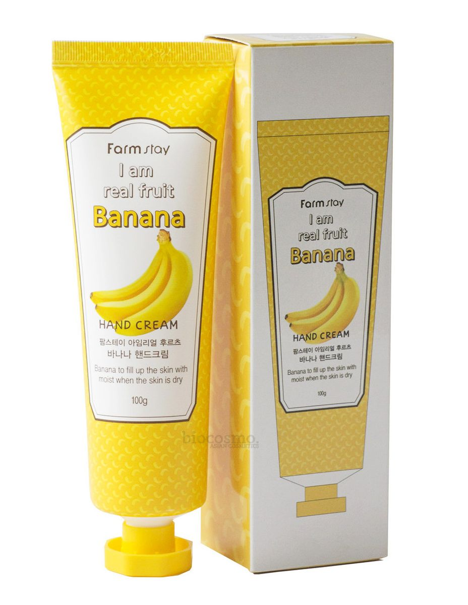 Крем для рук с бананом FARMSTAY I am Real Fruit Banana Hand Cream - 100 мл