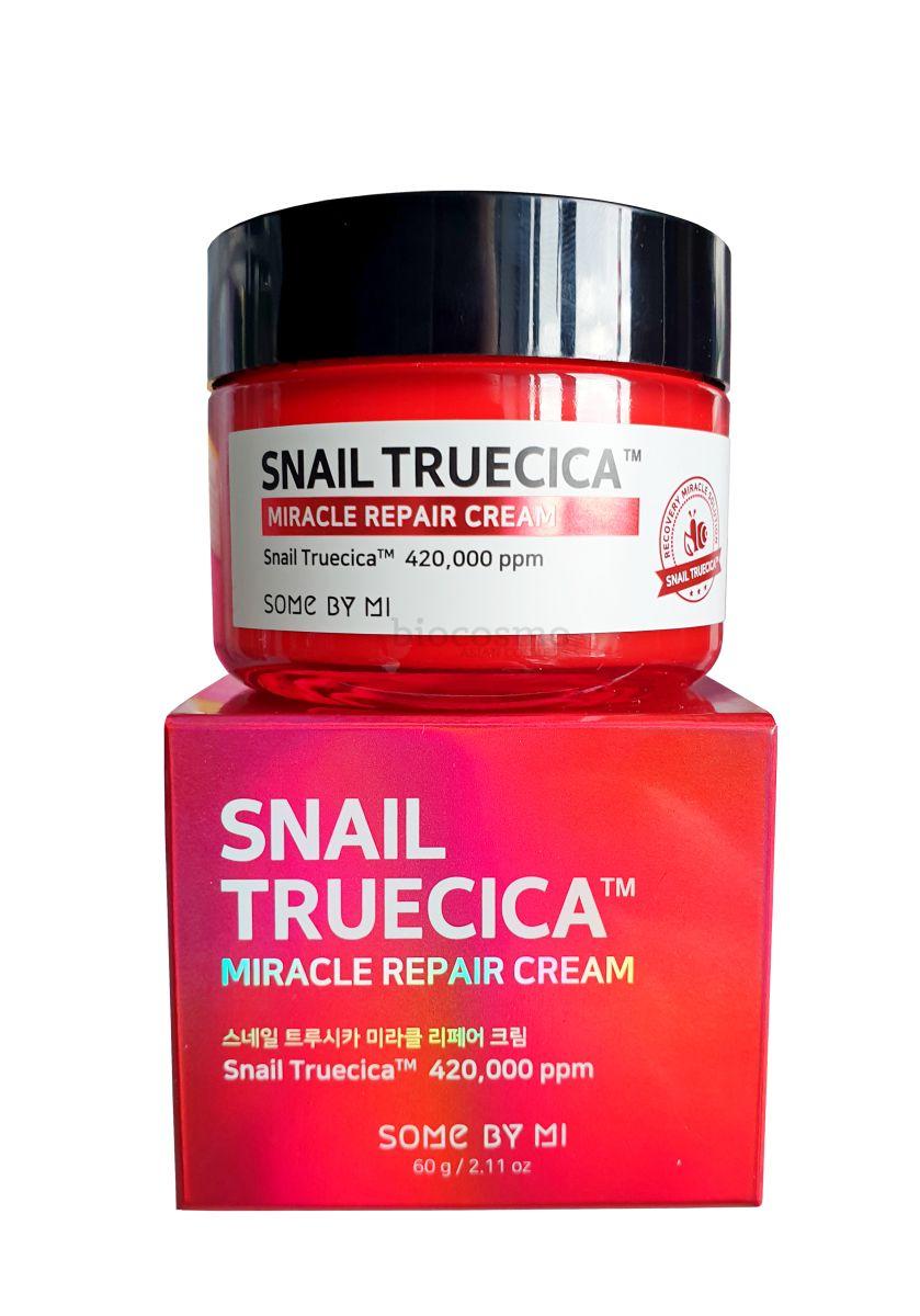 Восстанавливающий крем с муцином чёрной улитки Some By Mi Snail Truecica Miracle Repair Cream - 50 мл