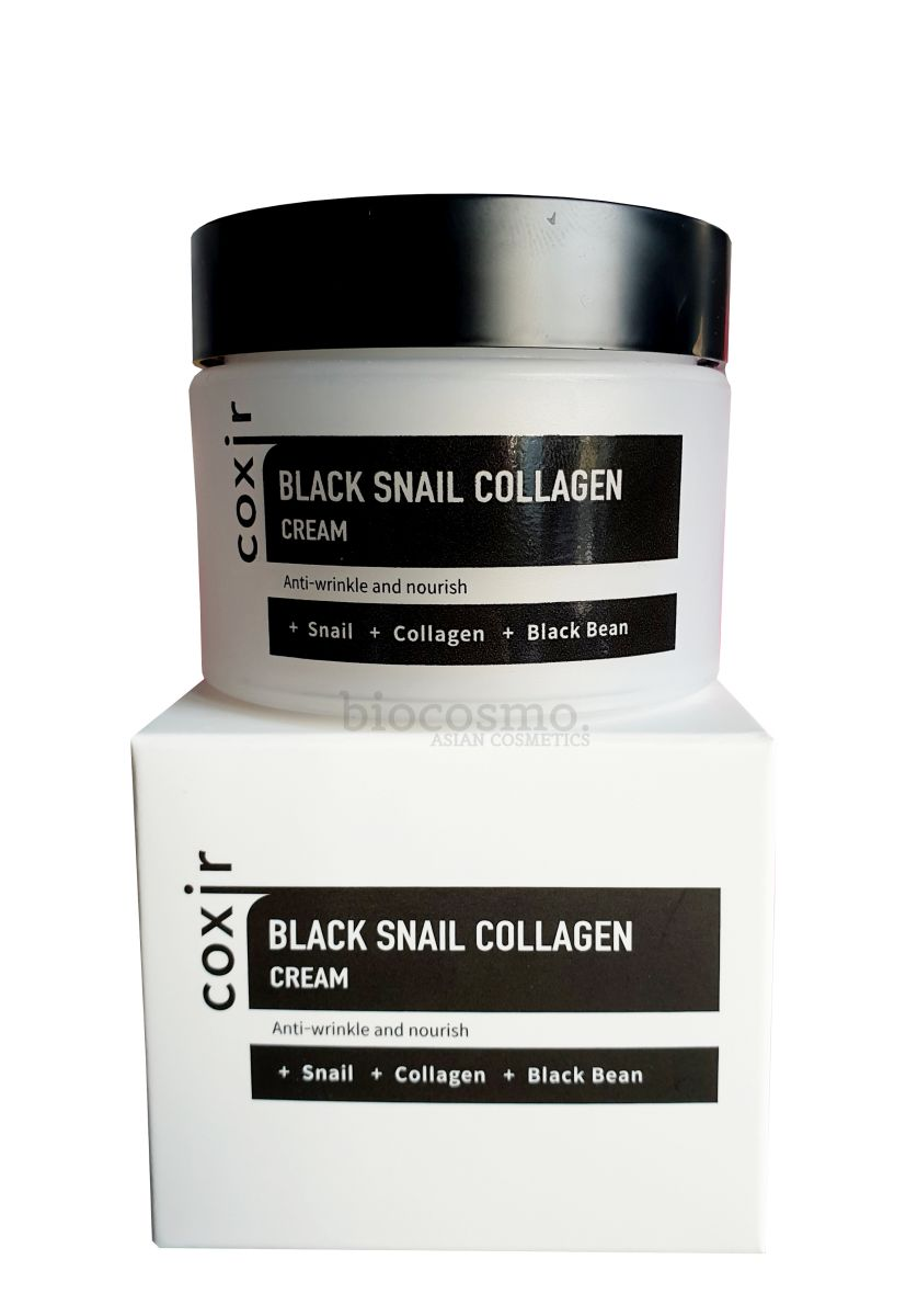 Антивозрастной крем с муцином улитки COXIR Black Snail Collagen Cream - 50 мл