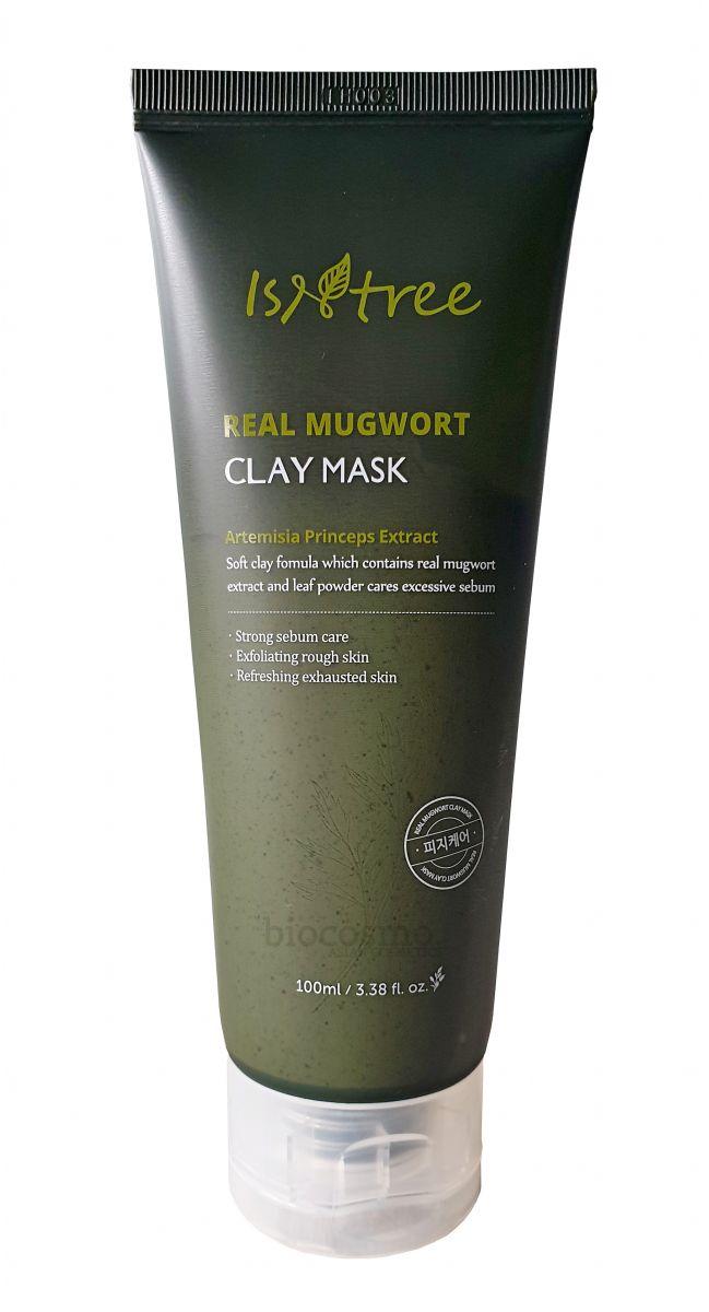 Глиняная маска с полынью для проблемной кожи IsNtree Real Mugwort Clay Mask - 100 мл