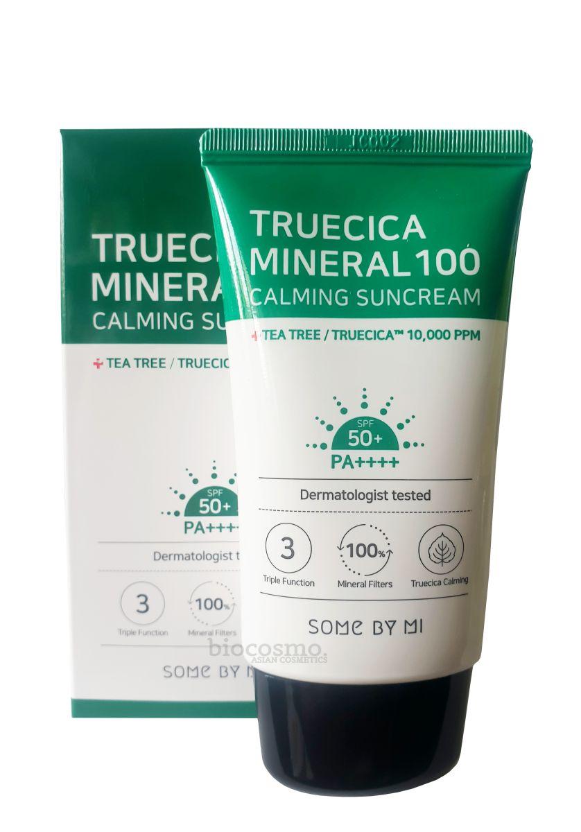 Успокаивающий солнцезащитный крем Some By Mi Truecica Mineral 100 Calming Sun Cream SPF50 - 50 мл