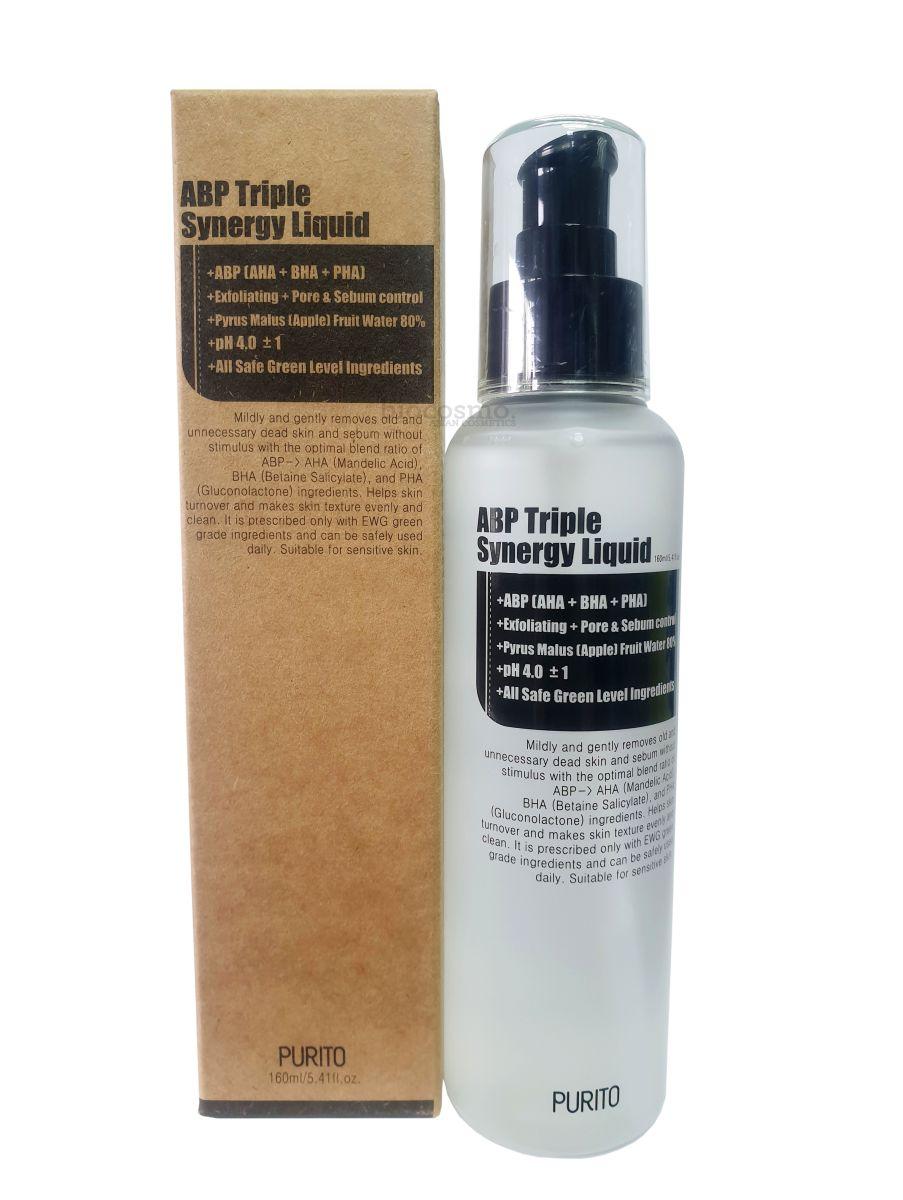 Эссенция для обновления кожи с тройным кислотным комплексом Purito ABP Triple Synergy Liquid - 160 мл