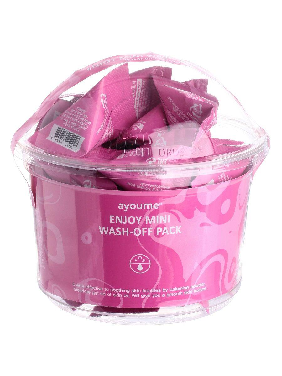 Успокаивающая маска с каламином AYOUME Enjoy Mini Wash Off Pack - 3 гр