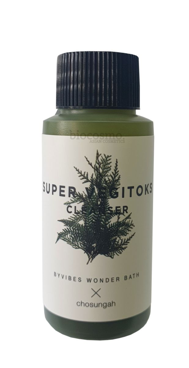 Миниатюра универсальной детокс пенки Wonder Bath Super Vegitoks Cleanser Green - 30 мл