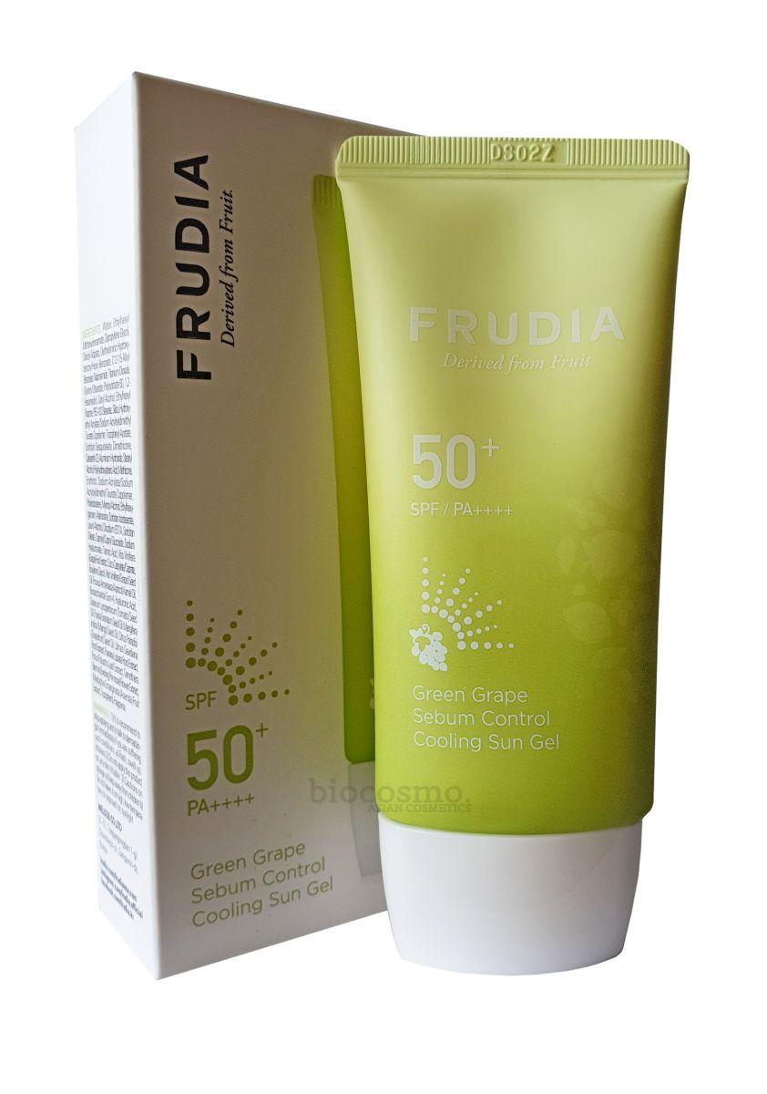 Солнцезащитный гель для жирной кожи Frudia Green Grape Sebum Control Cooling Sun Gel SPF50+/PA ++++ - 50 мл