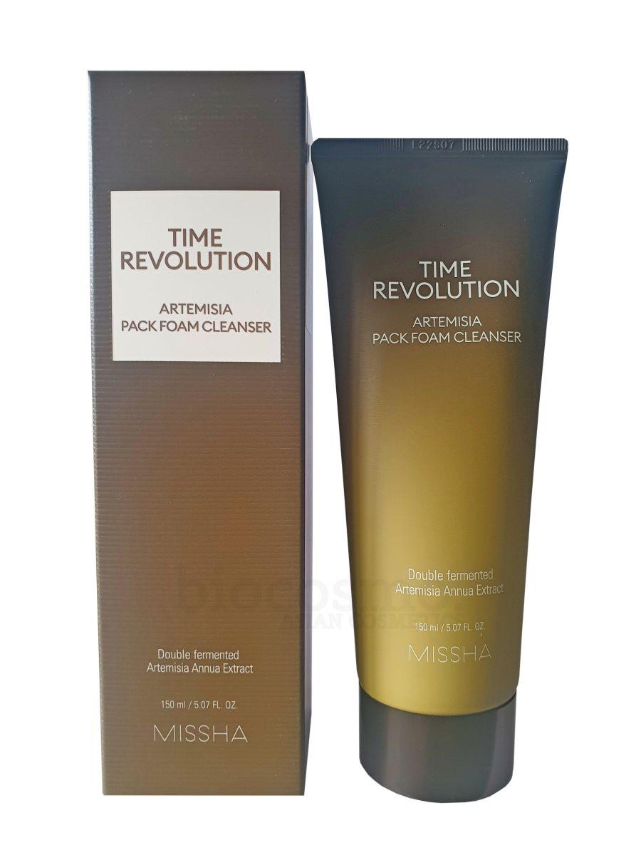 Очищающая пенка-маска с полынью MISSHA Time Revolution Artemisia Pack Foam Cleanser - 150 мл