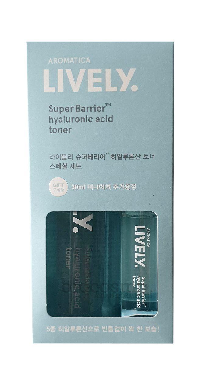 Увлажняющий тонер с гиалуроновой кислотой AROMATICA LIVELY SuperBarrier™ Hyaluronic Acid Toner - 200 мл + 30 мл