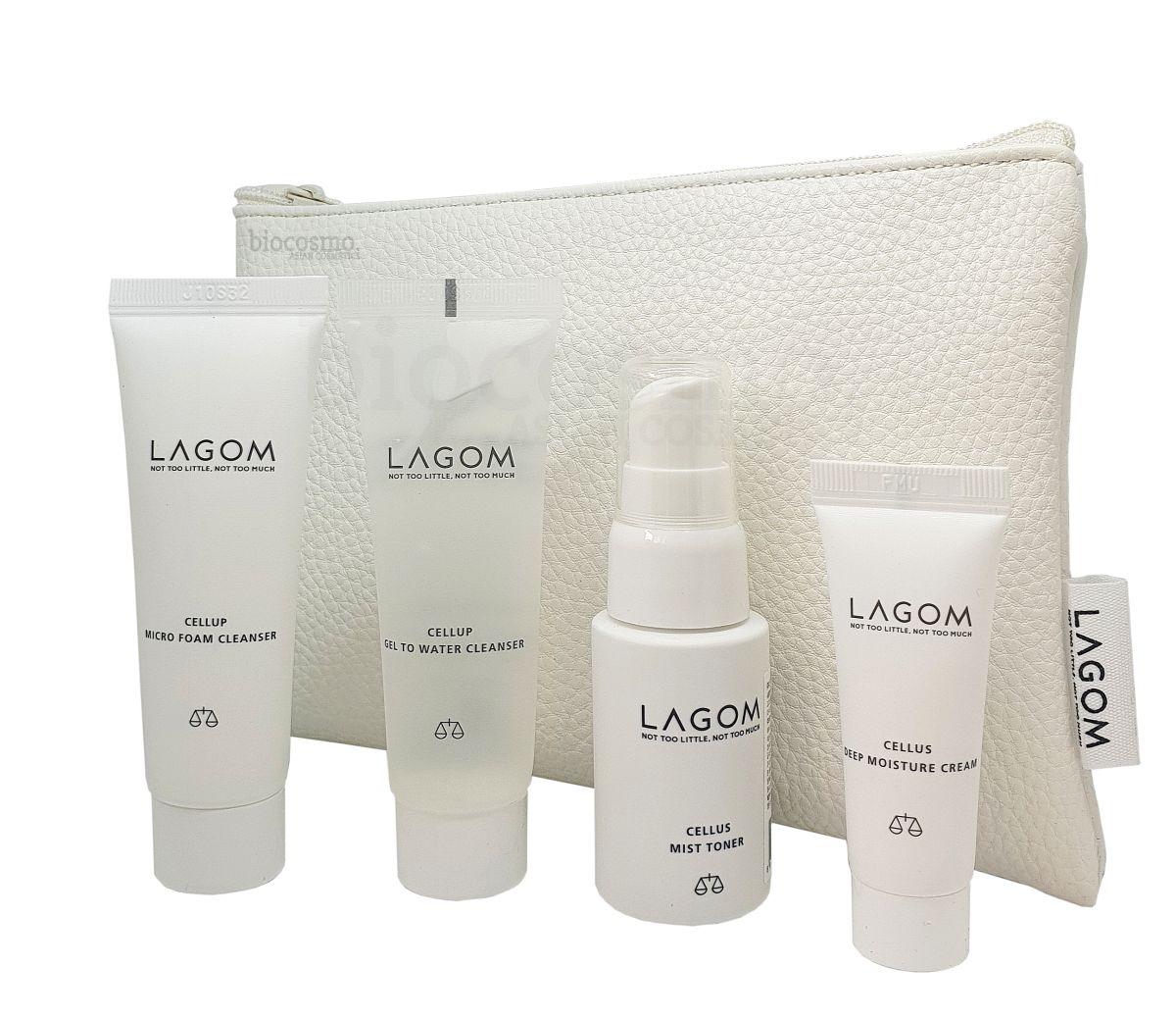 Набор миниатюр для увлажнения кожи Lagom Travel Kit
