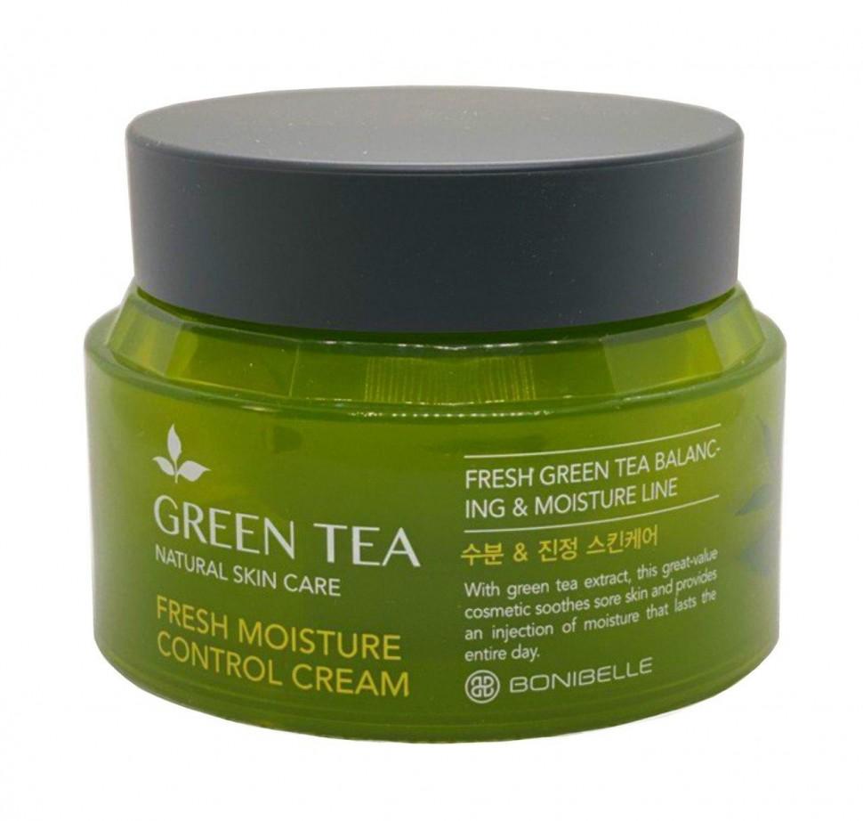 Увлажняющий крем с зеленым чаем Bonibelle Green Tea Fresh Moisture Control Cream - 80 гр