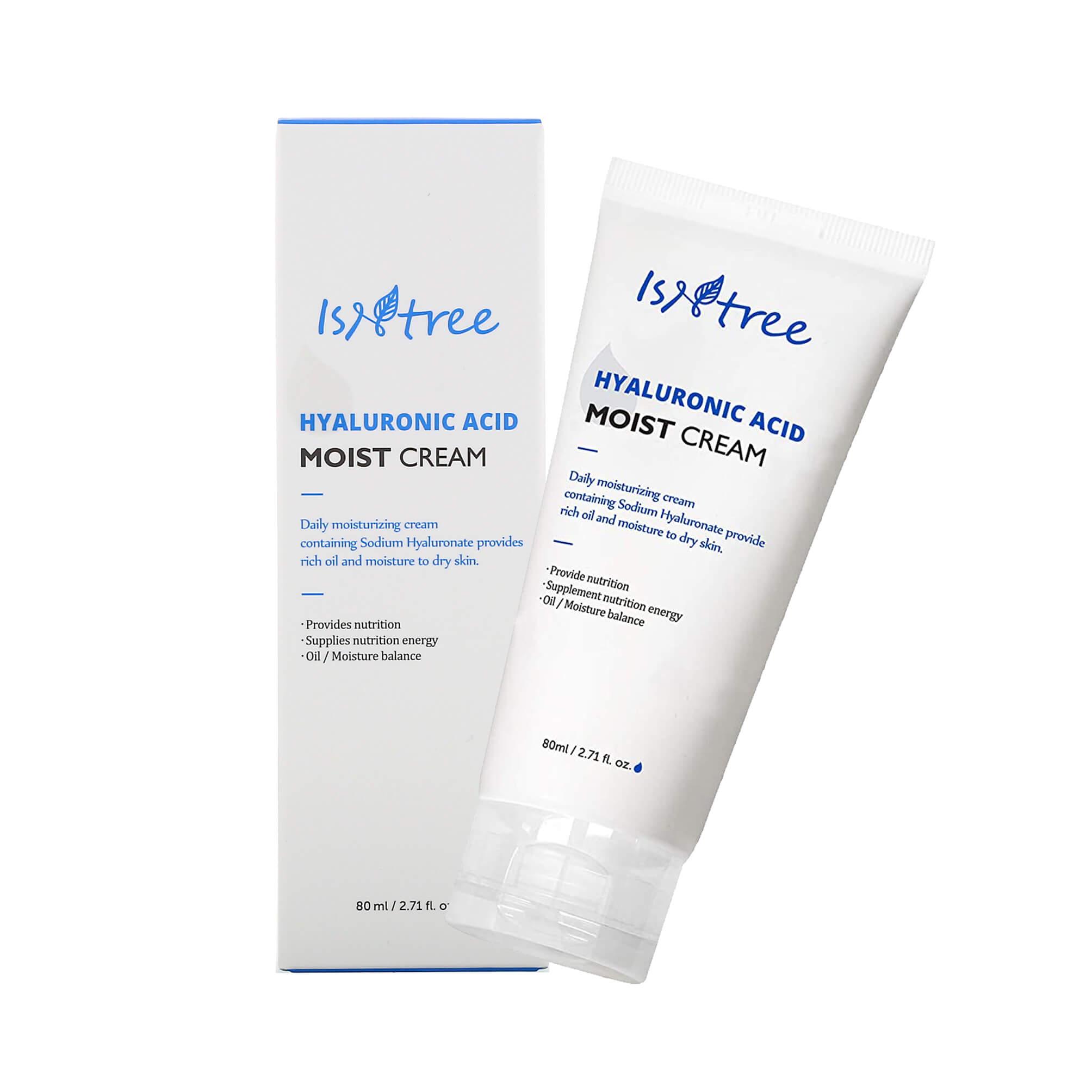 Крем для глубокого увлажнения кожи IsNtree Hyaluronic Acid Moist Cream - 80 мл