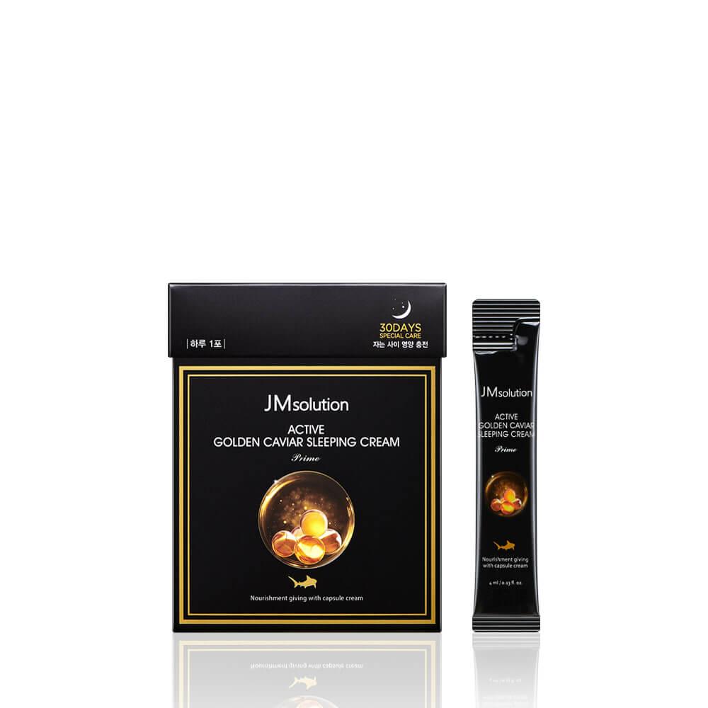 Ночная маска с золотом и икрой JMsolution Active Golden Caviar Sleeping Cream Prime - 4 мл