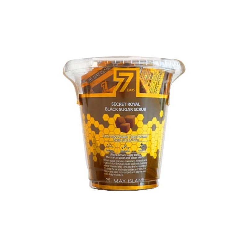 Сахарный скраб для лица May Island 7 Days Secret Royal Black Sugar Scrub - 3 гр