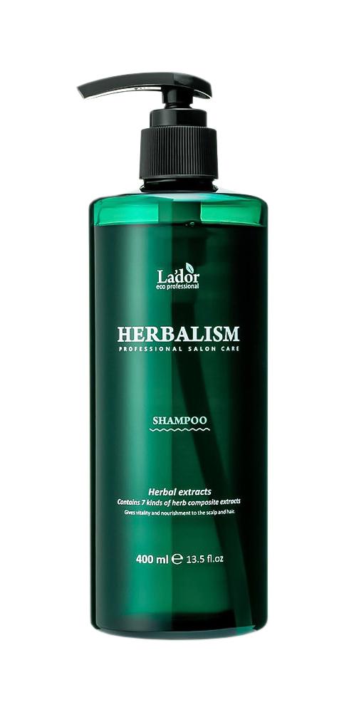 Слабокислотный травяной шампунь с аминокислотами Lador Herbalism Shampoo - 400 мл