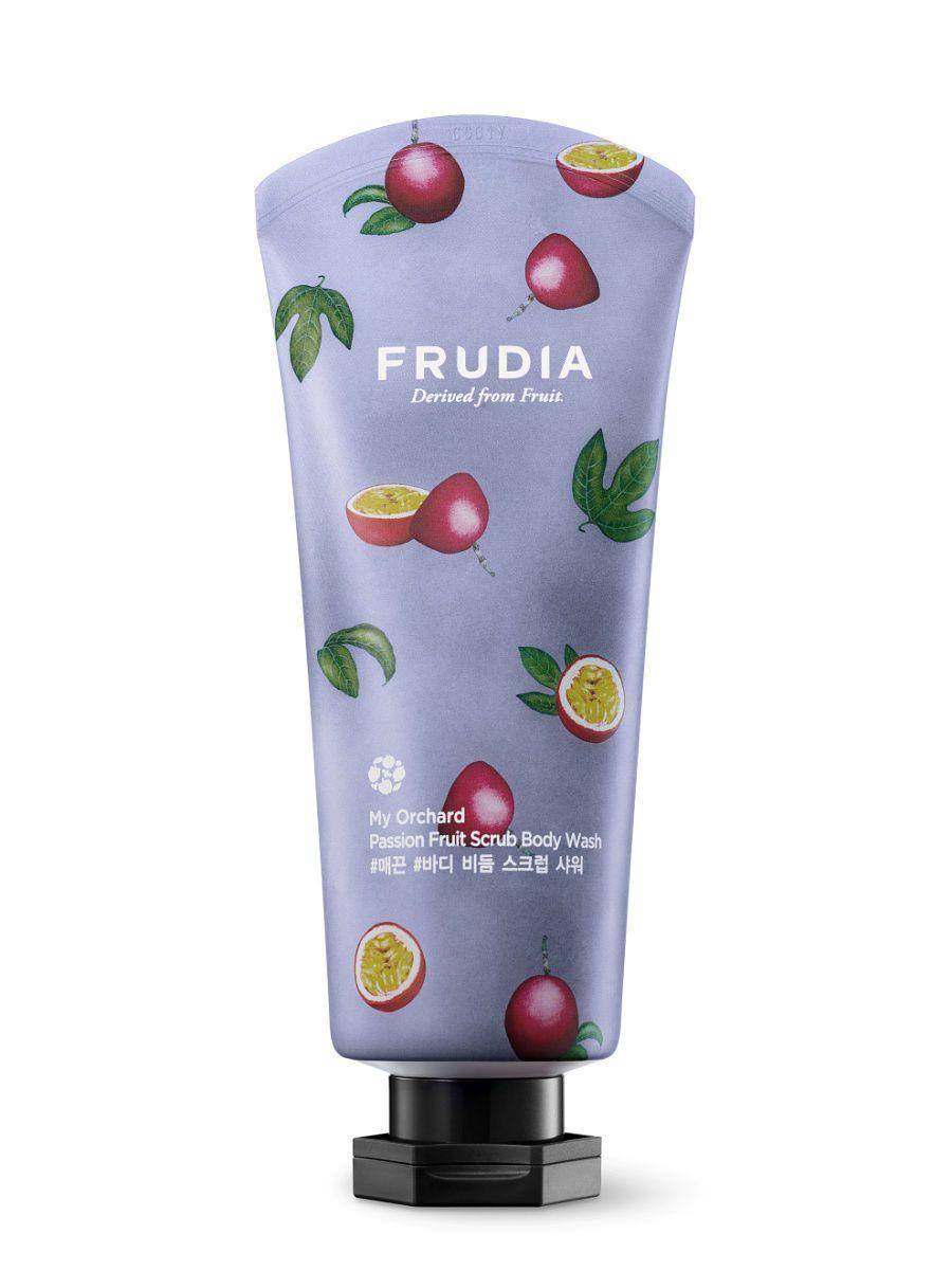 Скрабирующий гель для душа с маракуйей FRUDIA My Orchard Passion Fruit Scrub Body Wash - 200 мл