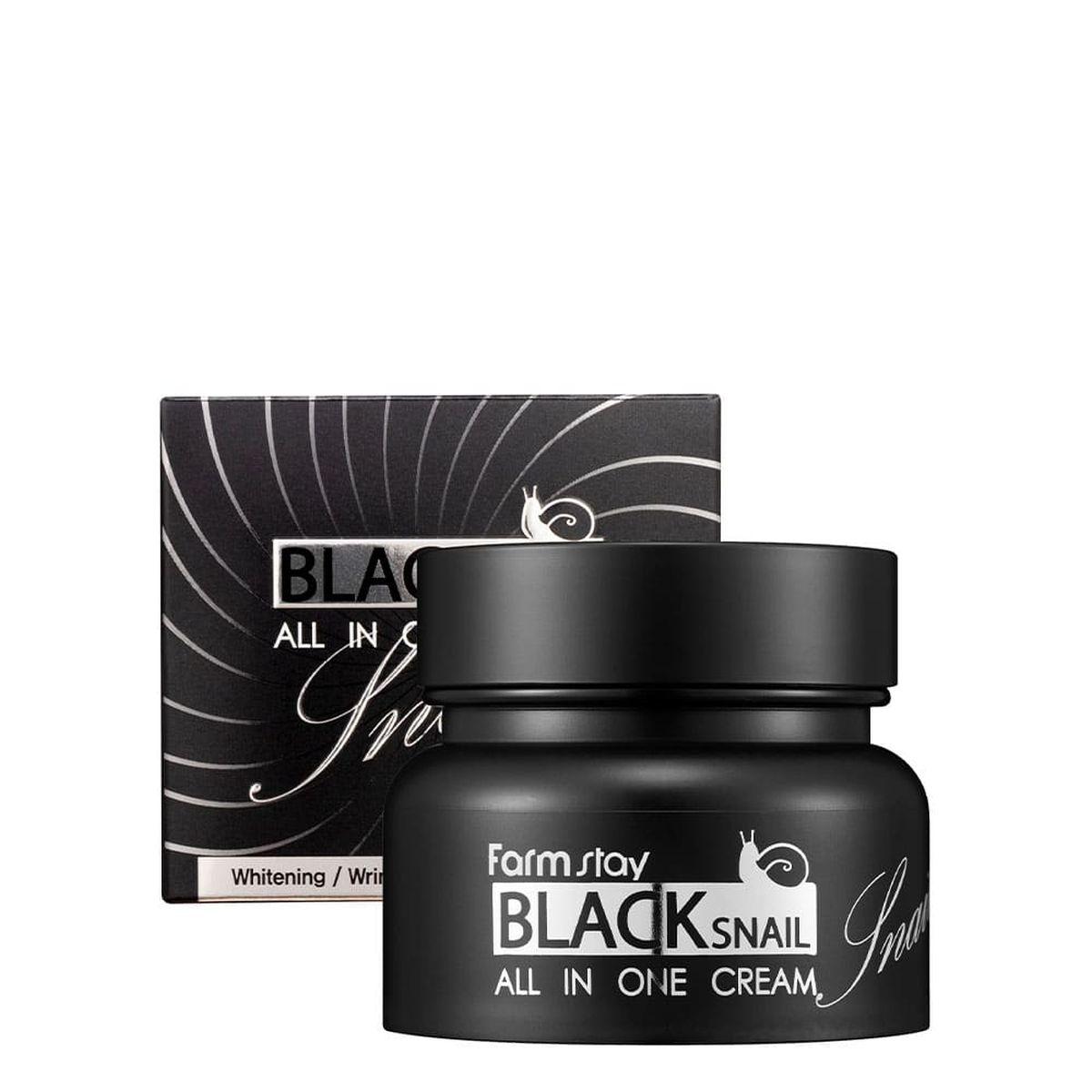 Крем для лица с муцином черной улитки FARMSTAY Black Snail All In One Cream - 100 мл