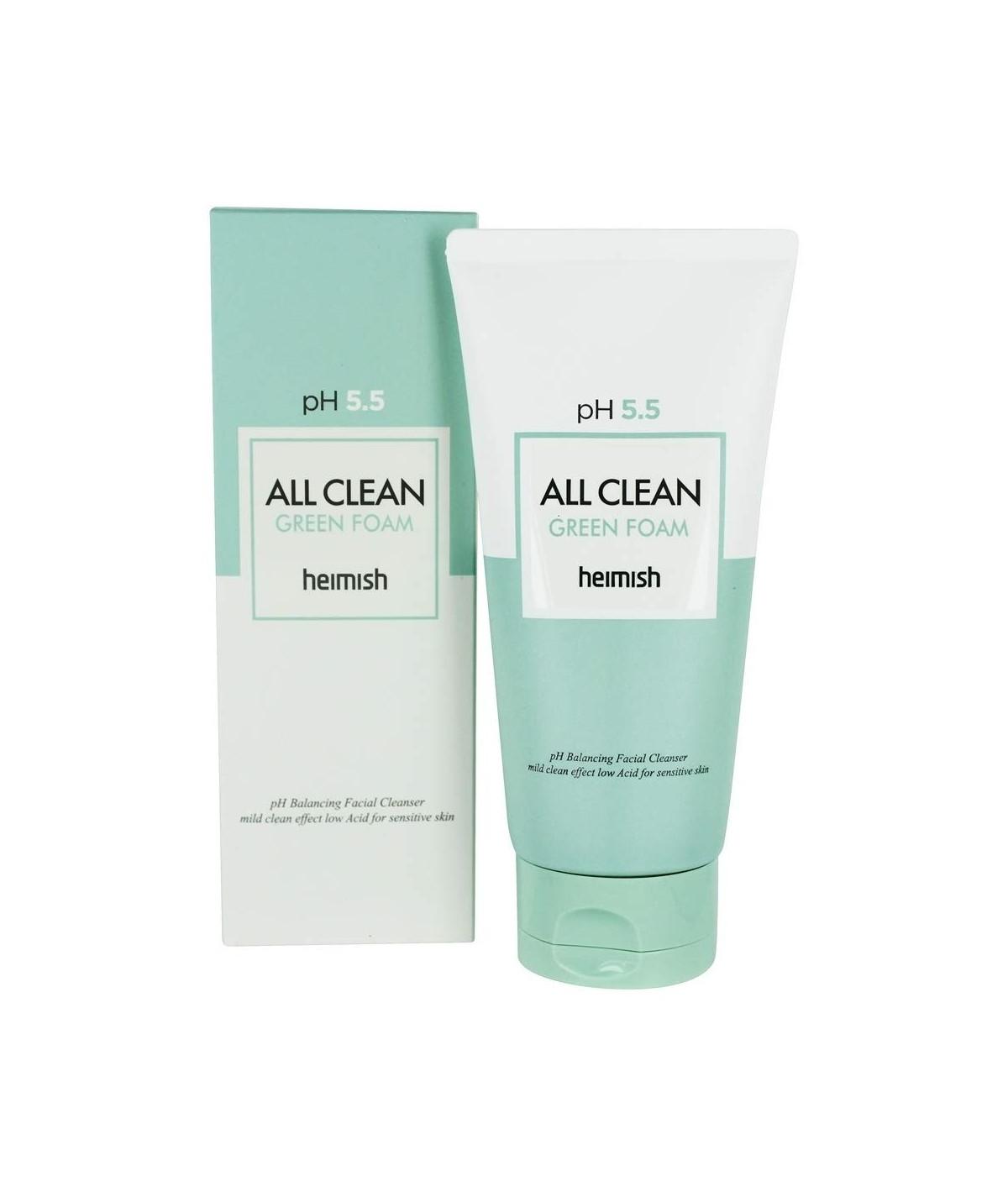 Слабокислотный гель для умывания Heimish pH 5.5 All Clean Green Foam - 150 мл