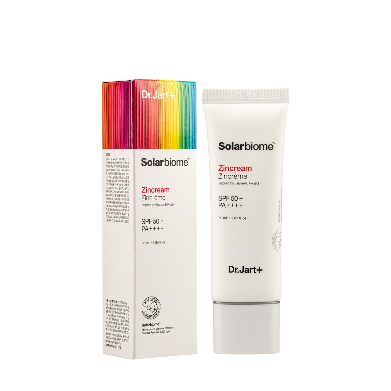 Гипоаллергенный солнцезащитный крем для лица Dr. Jart+ SolarBiome ZinCream SPF 50+ PA++++ - 50 мл