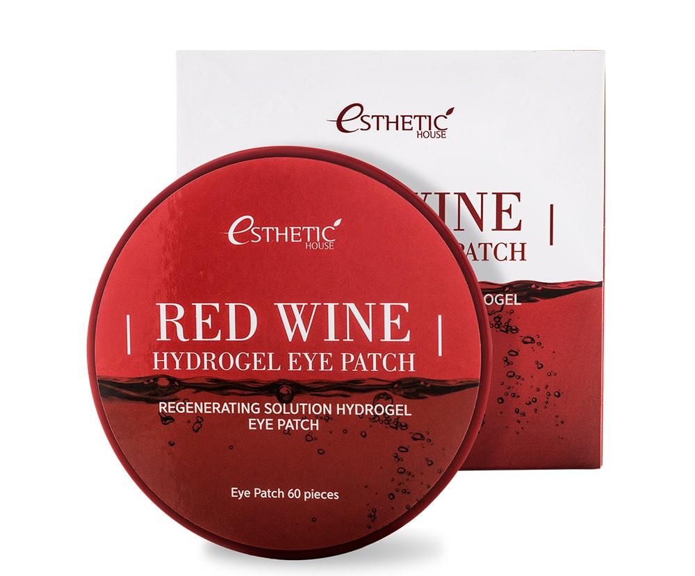 Гидрогелевые патчи для глаз с вином Esthetic House Red Wine Hydrogel Eye Patch - 60 шт