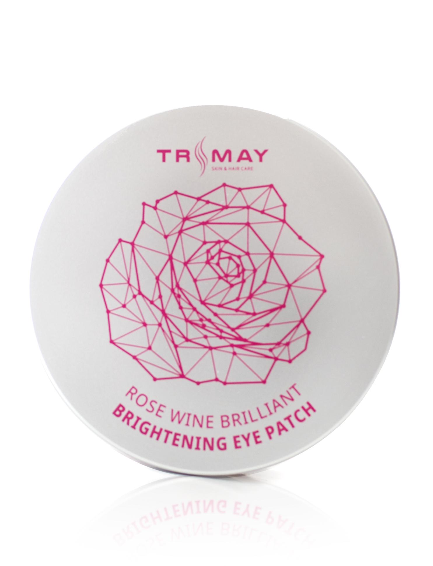 Гидрогелевые патчи для век с вином TRIMAY Rose Wine Brilliant Brightening Eye Patch - 90 шт