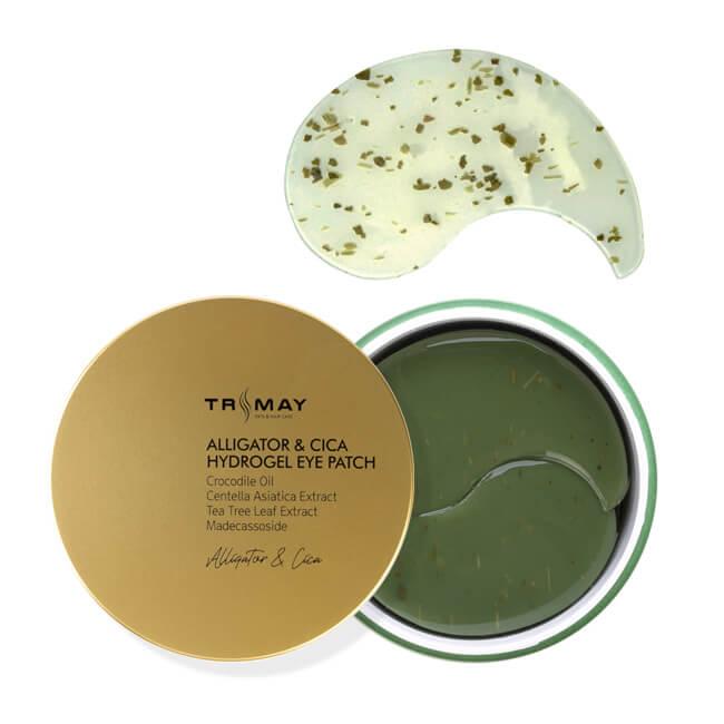 Успокаивающие патчи для глаз с маслом аллигатора Trimay Alligator & Cica Hydrogel Eye Patch - 60 шт