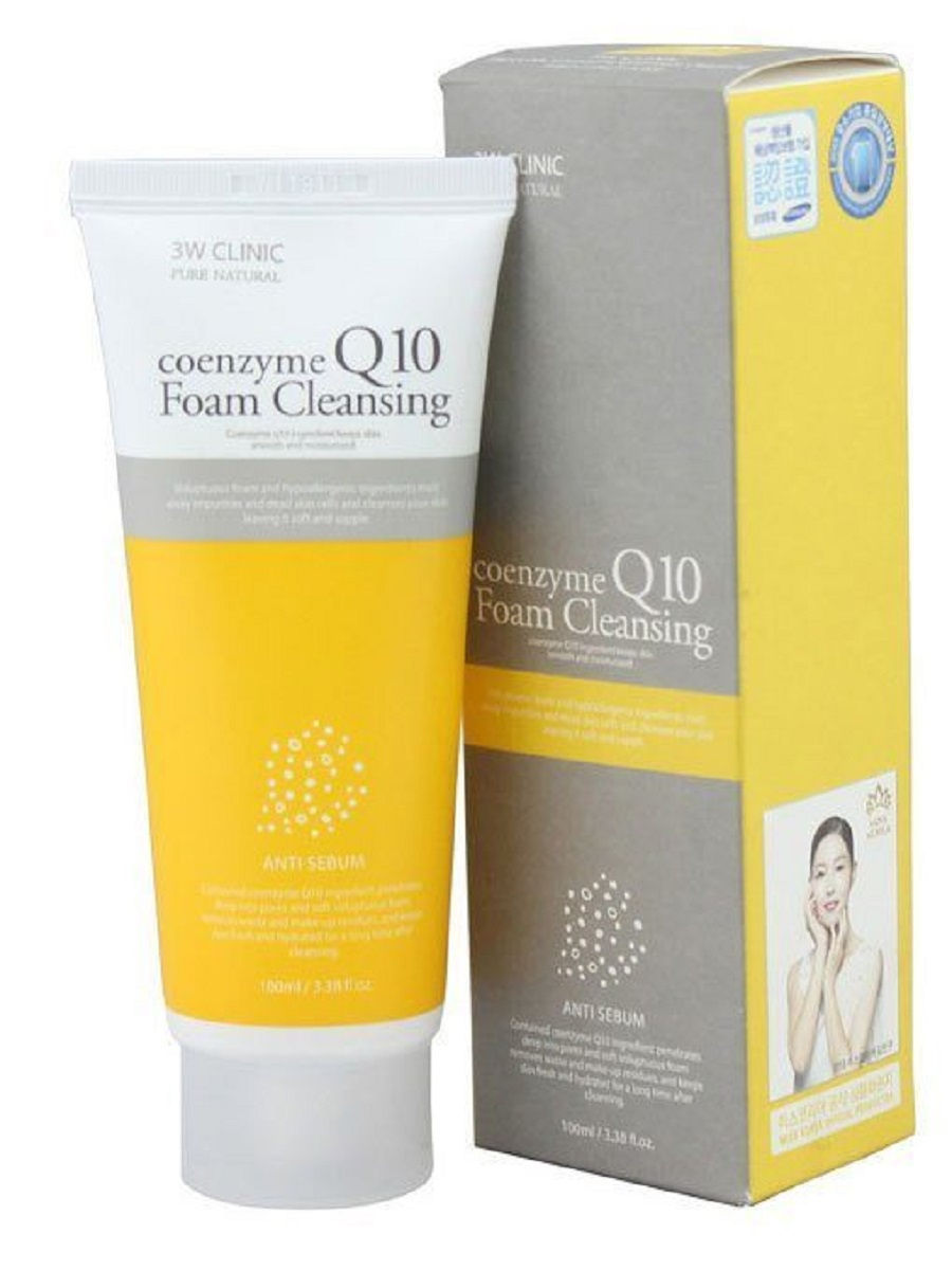Очищающая пенка с коэнзимом 3W Clinic Coenzyme Q10 Foam Cleansing - 100 мл