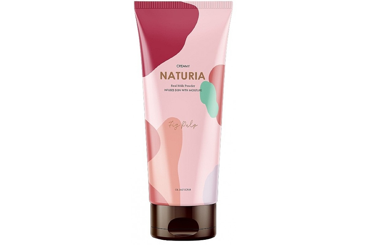 Скраб для тела инжир EVAS Naturia Creamy Oil Salt Scrub Fig Pulp - 250 мл