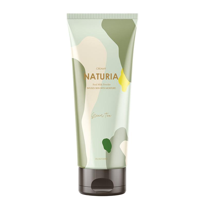Скраб для тела зеленый чай EVAS Naturia Creamy Oil Salt Scrub Green Tea - 250 мл